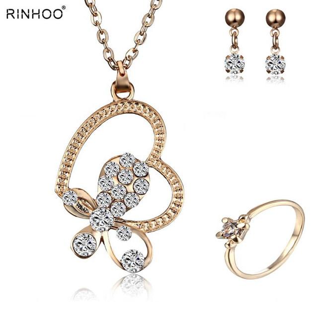 2018 Hot Sale Silver Color Fashion Jewelry Sets Cubic Zircon Statement Necklace