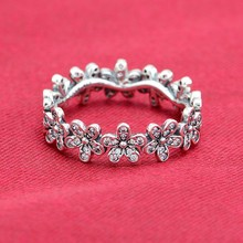 Original  Sterling Silver Fashion Rings Primrose Charms With Clear CZ Stones DIY Fine Jewelry For Women Wholesale