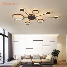 Creative Home Deco Ceiling lamp Coffee color surface mounted light fixture Living Room Bedroom AC85-265V