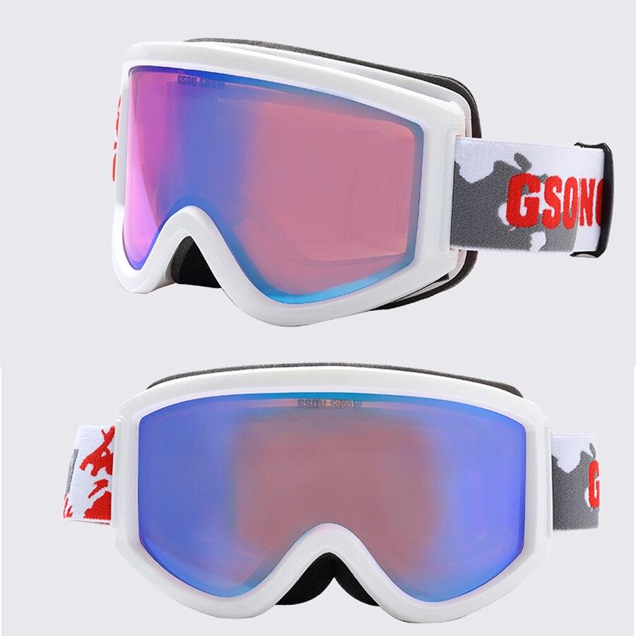 Gsou Snow двухслойные большие сферические линзы для мужчин и женщин лыжные очки 100% защита от ультрафиолета противотуманные лыжные очки близору... - 3