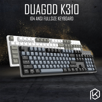 durgod 104 taurus k310 mechanical keyboard using cherry mx switches pbt doubleshot keycaps brown blue black red silver switch 1