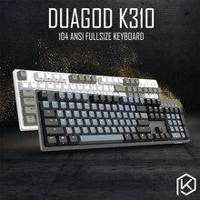 Durgod 104 Taurus K310 แป้นพิมพ์โดยใช้ Cherry MX Switches PBT DoubleShot keycaps สีน้ำตาลสีฟ้าสีดำสีแดงสวิตช์เงิน