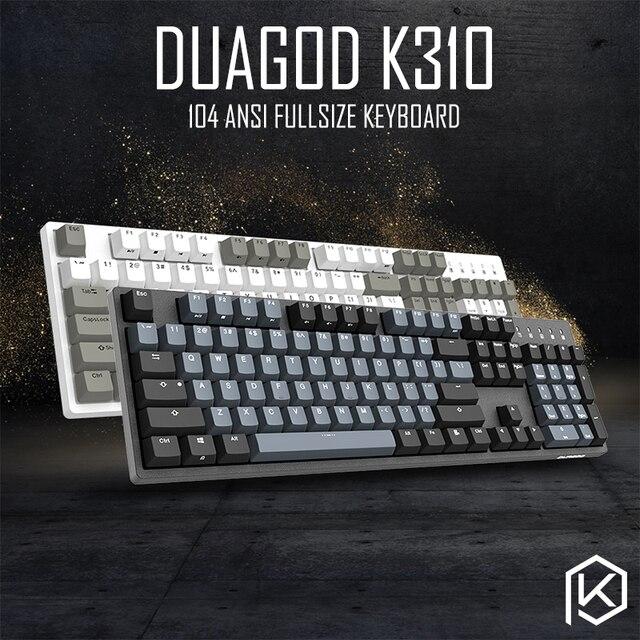 Механическая клавиатура durgod 104 taurus k310 с переключателями cherry mx, коричневые, синие, черные, красные, серебристые клавиши pbt doubleshot