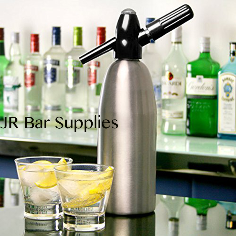 Free Shipping Soda Siphon 1ltr Make Sparkling Water for Mojitos Gin Fizz Cocktails and Wine Spritzers