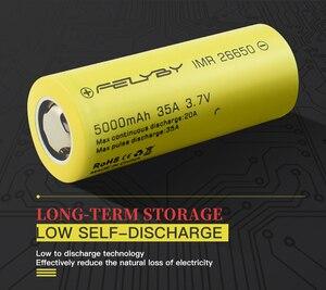 Image 4 - FELYBY 1 5pcs 높은 용량 5000mAh 3.7V 충전식 26650 리튬 배터리 손전등/태양/UPS/전자 도구