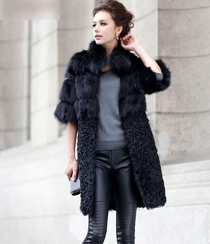 Aliexpress.com : Buy Brand New Natural Fox Fur Coat Women's Lady ...
