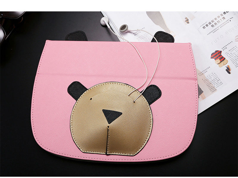 For Ipad Mini Case Mini 4 Cover PU Leather Anime Cartoon Tablet PC Pad Protective Case Cover With Earphone Pocket Shell