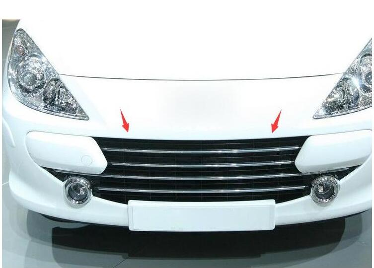 car-styling case For Peugeot 307 High quality ABS Chrome Front Grille Around Trim Racing Grills Trim Car styling high quality stainless steel front grille around trim front bumper around trim racing grills trim for 2014 toyota corolla