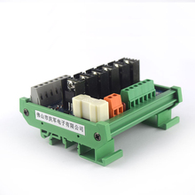 цена на PLC DC amplifier board 6 way contactless relay output short circuit protection optocoupler isolation industrial control board