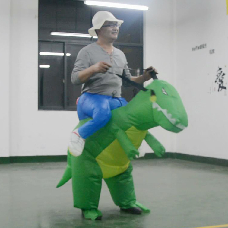 Animal Dino Rider T-Rex inflatable costumes for adults Inflatable Dinosaur inflatable kids dinosaur for party dinocostume