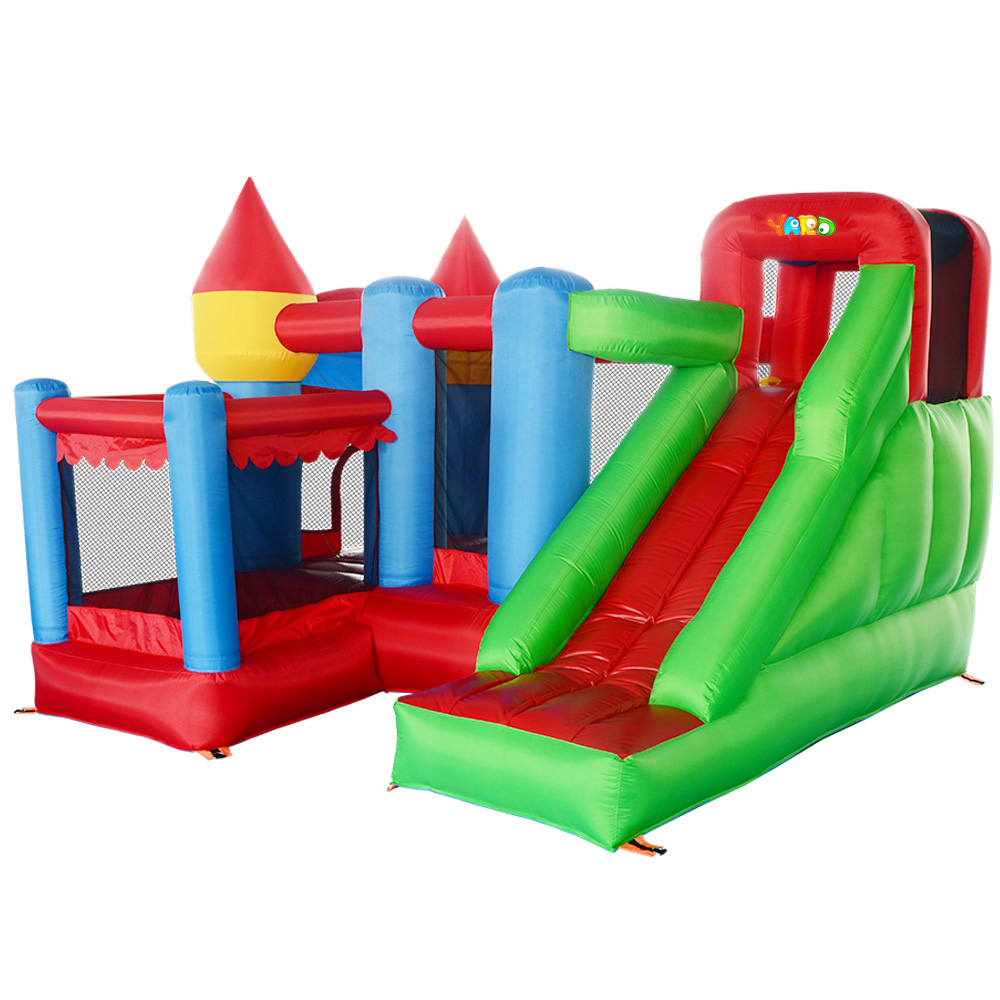 YARD Inflatable Jumper Bouncy Castle Nylon Bounce House Jumping House Trampoline Bouncer with Free Blower for Kids nylon home used bouncer inflatable castle jumping castle trampoline bounce house mini bouncy castle bouncer kids toys for sale