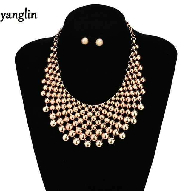 New Fashion choker Statement Bohemian necklace pendants Vintage Round gypsy ethnic maxi torques Necklace Women fine Jewelry