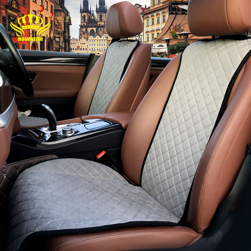 ROWNFUR marca cubierta de asiento de coche Universal para coche decorar proteger accesorios Suede moda cojín del asiento de coche- estilo