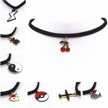 Leather Necklace Torques Pure Black Velvet Ribbon Maxi Statement Chokers Necklace For Women Collares Fashion Jewelry Colar 2016