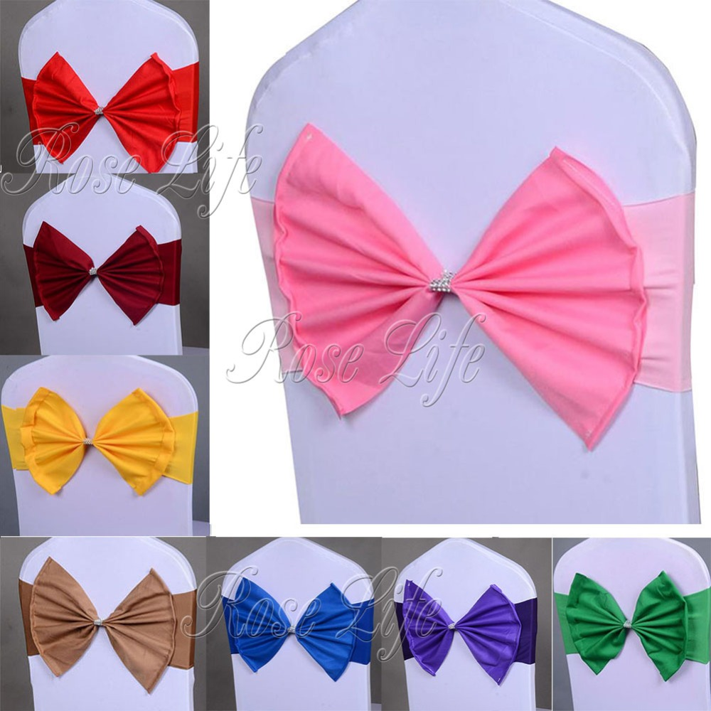 Chair Cover Bows bow chair cover promotion-shop for promotional bow chair cover on