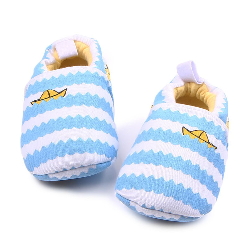 2018 Newborn Spring Autumn Baby Knitted Cotton Shoes Baby Boys and Girls Toddler Shoes Undrop Slip-on Shallow Shoes