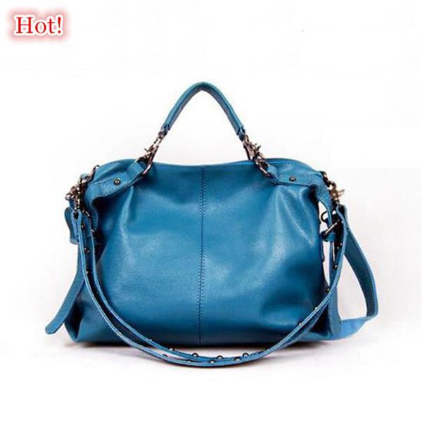 2015 Genuine Leather Women Handbag Fashion Cowhide Shoulder bag Hot Women Messenger Bags New Women Lether Handbag Trendy Tote 2015 fashion women floral genuine leather handbag elegant shoulder bag new style messenger bags women top handle bags hot tote