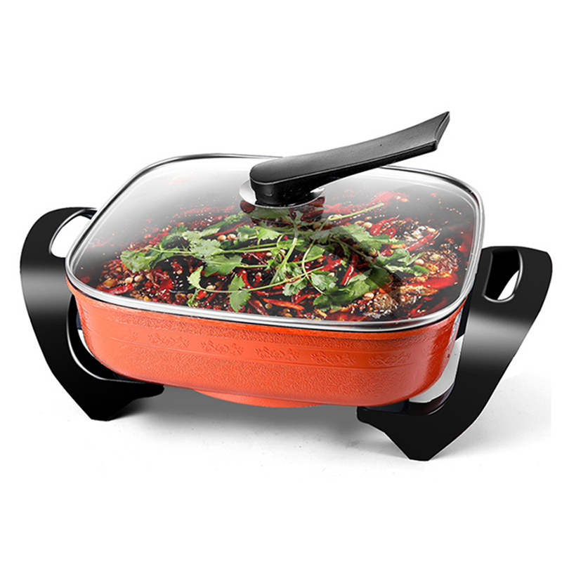 Royalstar Electric skillets 1500W Electric Frying pan Fast Heating Hotpot Fry Pot Barbecue Multifunction Non-stick Pan 220V 5L