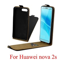 For Huawei Nova 2S Cover Luxury PU Leather Flip Case Vertical Open Down Up Nova2S
