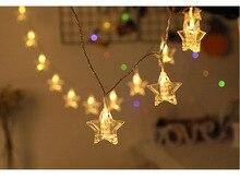 led Lamp curtain fairy string light Christmas for Wedding home garden party decor