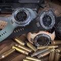 Refrigere o Design de Alta qualidade pulseira de borracha Militar Do Exército Correia Sports masculina Suíço Militar Assista 6 cores Preto e Branco movimento