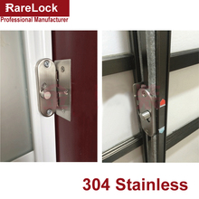 LHX Christmas Supplies Stainless Latch Sliding Door Lock for Bedroom Toilet Bathroom Security Furniture Hardware Bolt DIY