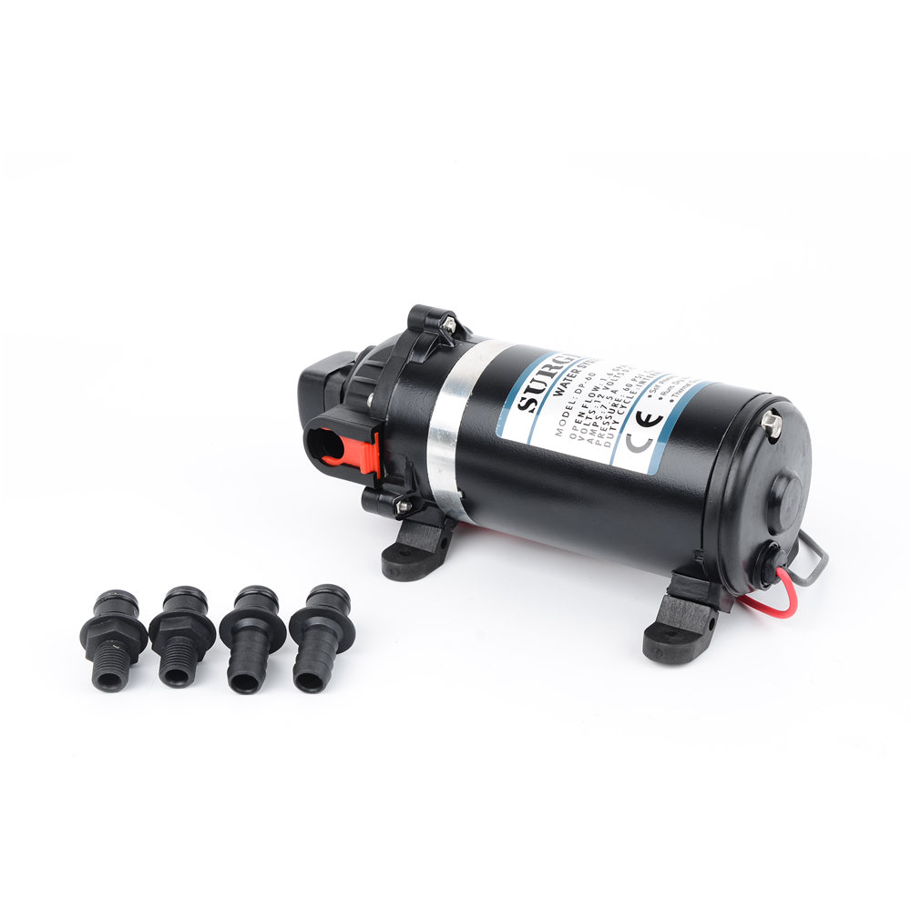 DC 12V/24V 108W 100PSI 7Bar Lift 9.5m Electric High Pressure Diaphragm Pump Self-Priming Spray Car Wash Water Purifiers DP-100 0 75kw self priming water pump for high rise wells in the river lake 220v household jet garden pump 4 5m3 h big capacity