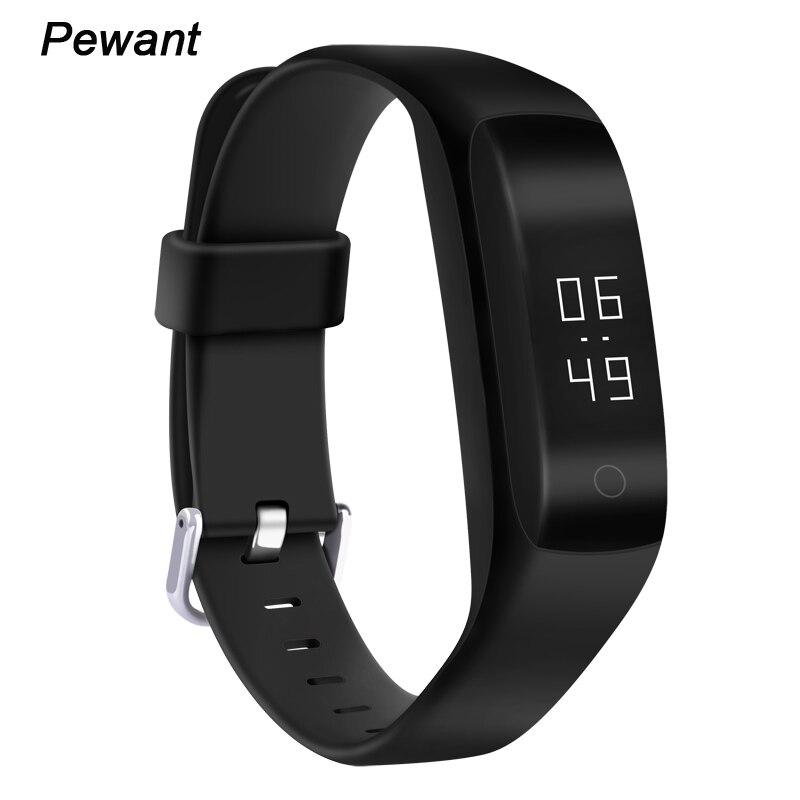 imágenes para Últimas pewant banda inteligente pulsera bluetooth conectado con la frecuencia cardíaca moniter pantalla oled pulsera inteligente para meizu sony teléfono