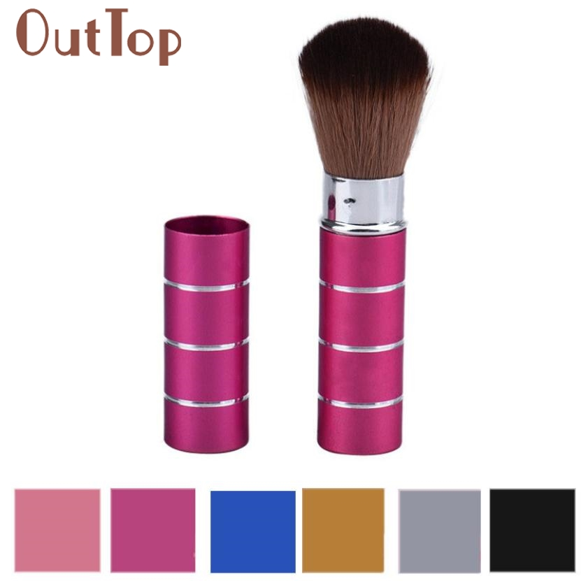 Retractable Dome Blush Brush Aluminum Eyeshadow Brushes Make-up Accessories Cosmetic Makeup Tools Women Girls 3Dec22 new makeup brushes black aluminum retractable blush brush make up professional tools nice gift for you maquiagem face concealer