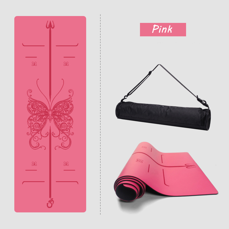 New Natural rubber yoga mat beginners thickened widened fitness mat yoga mat professional non-slip yoga mat yoga pilates mat pu 5mm for beginners and seniors widened workout yoga pilates gym exercise fitness gym mat
