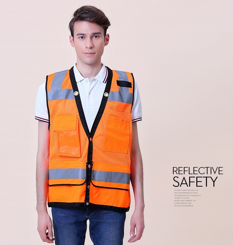 Safety Clothing Romantic Sfvest En471 Hi Vis Vest Safety Vest With Logo Printing Workwear Safety Jacket Free Shipping