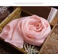 Vintage девушки дети Шарф мода Розовый платок для женщин 100% чистого шелка большой пляж шарфы бренд пашмины и новорожденный Обертывание хиджаб