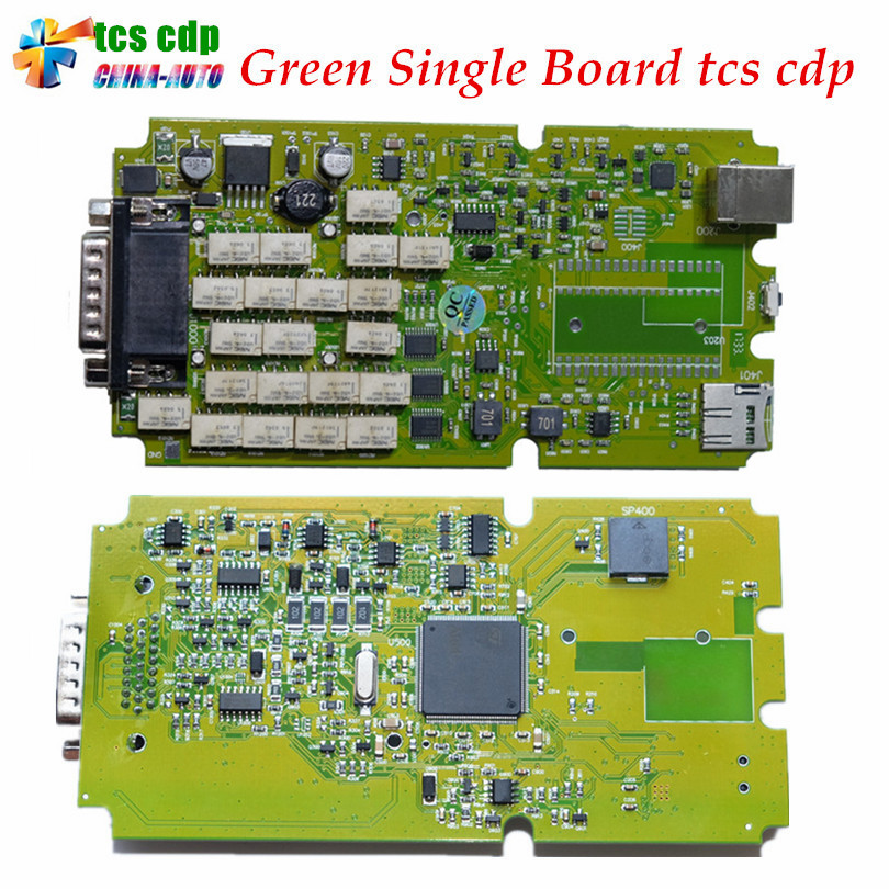 2018 Best Quality TCS cdp Single Green PCB board CDP PRO 2016.0 /2015.3 Software with Keygen for Car and Trucks Diagnostic Tool