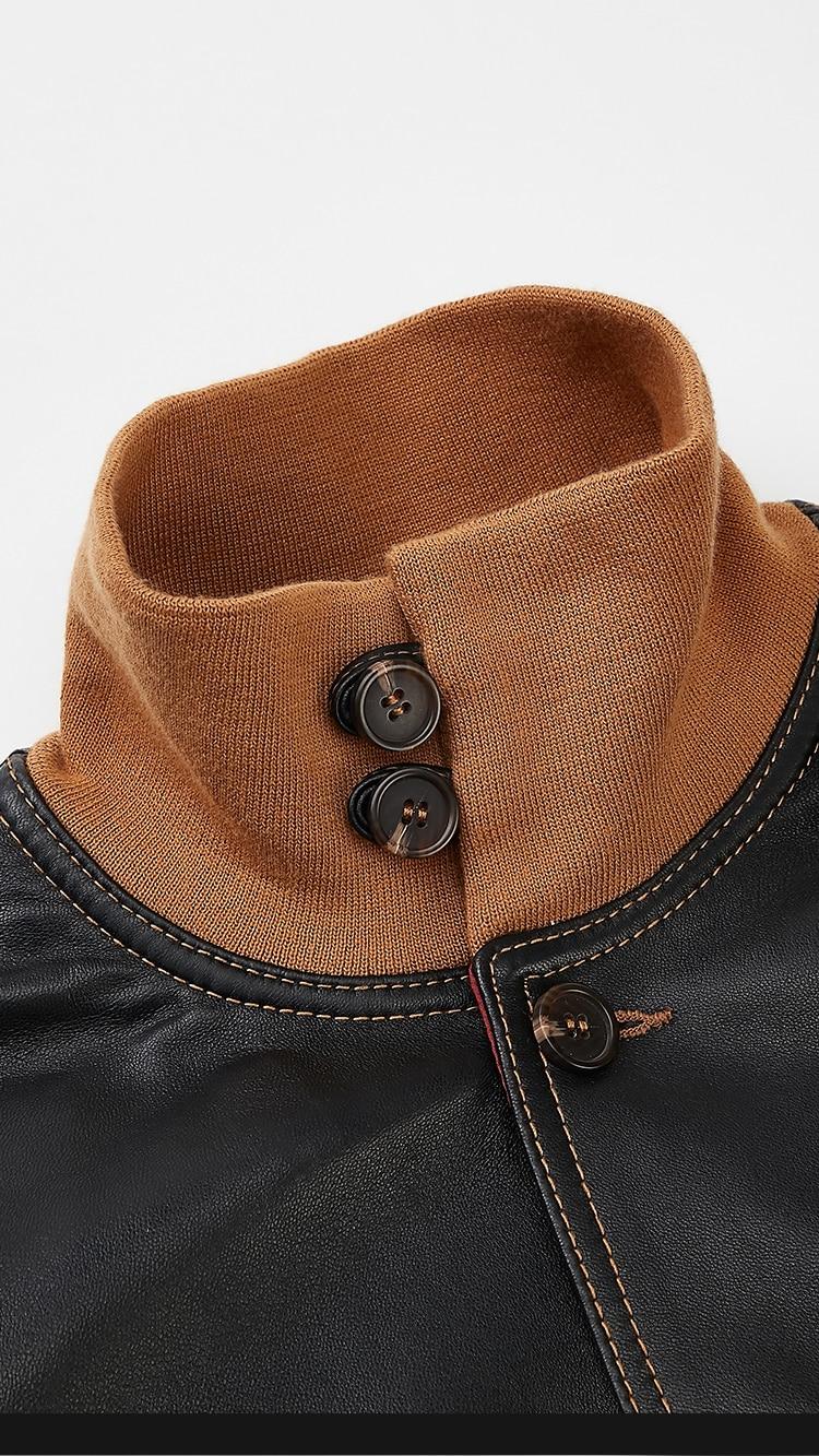 HTB1gEAgXUzrK1RjSspmq6AOdFXaZ Free shipping,mens classic A1 leather Jacket,vintage genuine sheepskin coat.thin soft black men jackets.flight clothing