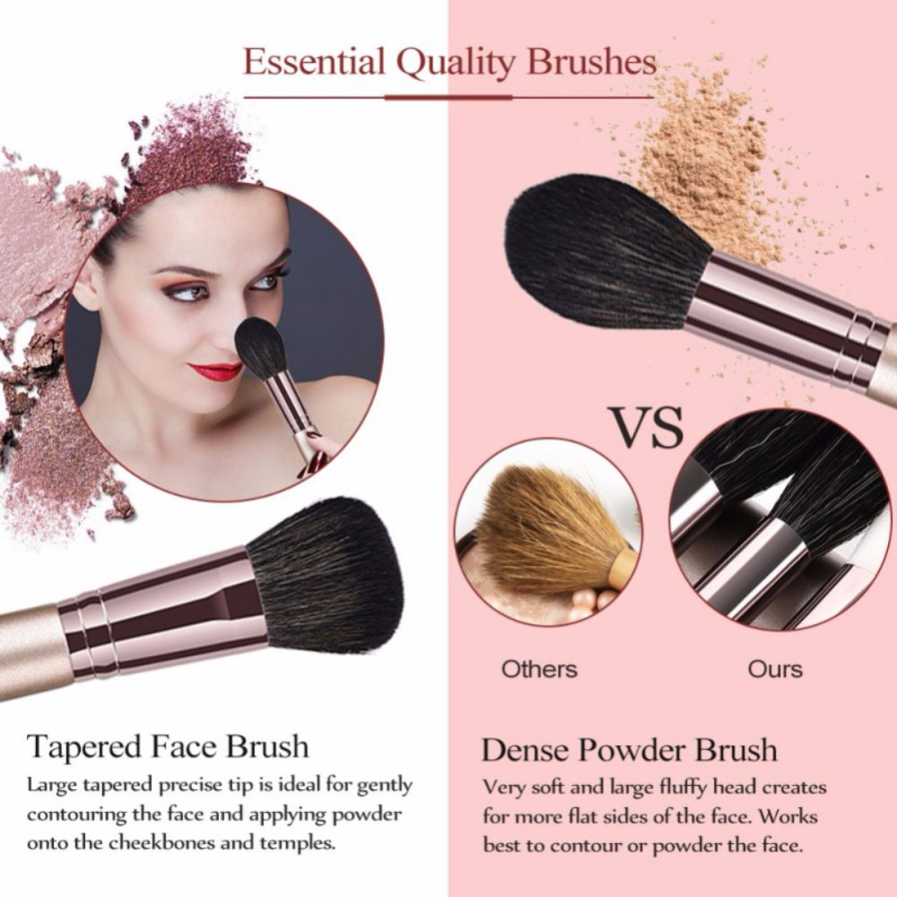 10 14pcs Makeup Brushes set Professional Powder Foundation Eyeshadow Make Up Brushes Cosmetics Soft Synthetic Hair in Eye Shadow Applicator from Beauty Health