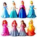 Magia Clipe Vestido de Princesa Magiclip Merida Elsa Anna Estátua Belle Rapunzel Dolls Figuras de Ação Anime Figura Figuras Crianças Brinquedos