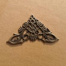 12 шт модные древние бронзовые Альбомы для книг, меню, папки, Защитные уголки для скрапбукинга, протектор для фото, уголок альбома