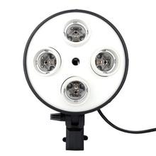 4 ב 1 E27 בסיס שקע מתאם תמונה סטודיו אור מנורת הנורה מתאם עבור צילום וידאו Softbox