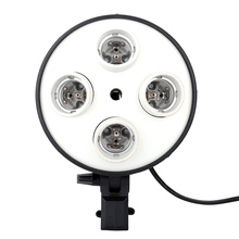 4 in 1 E27 Base Socket Adapter Photo Studio Light Lamp Bulb Holder Adapter for Photography Video Softbox