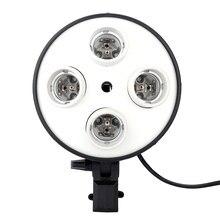 4 en 1 E27 Base prise adaptateur Photo Studio lumière lampe porte-ampoule adaptateur pour photographie vidéo Softbox