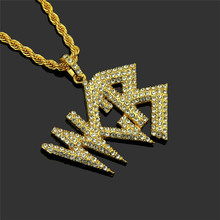 1PC Hip-hop crystal pendants Nightclub bubble hipster Shiny gold and silver