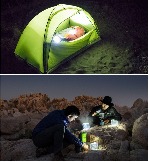 10 LED solar powered inflatable camping light