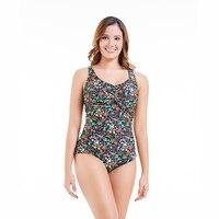 CATTLEYA 2018 New Women swimwear one piece plus size swim suit large size swimsuit FKS 1883