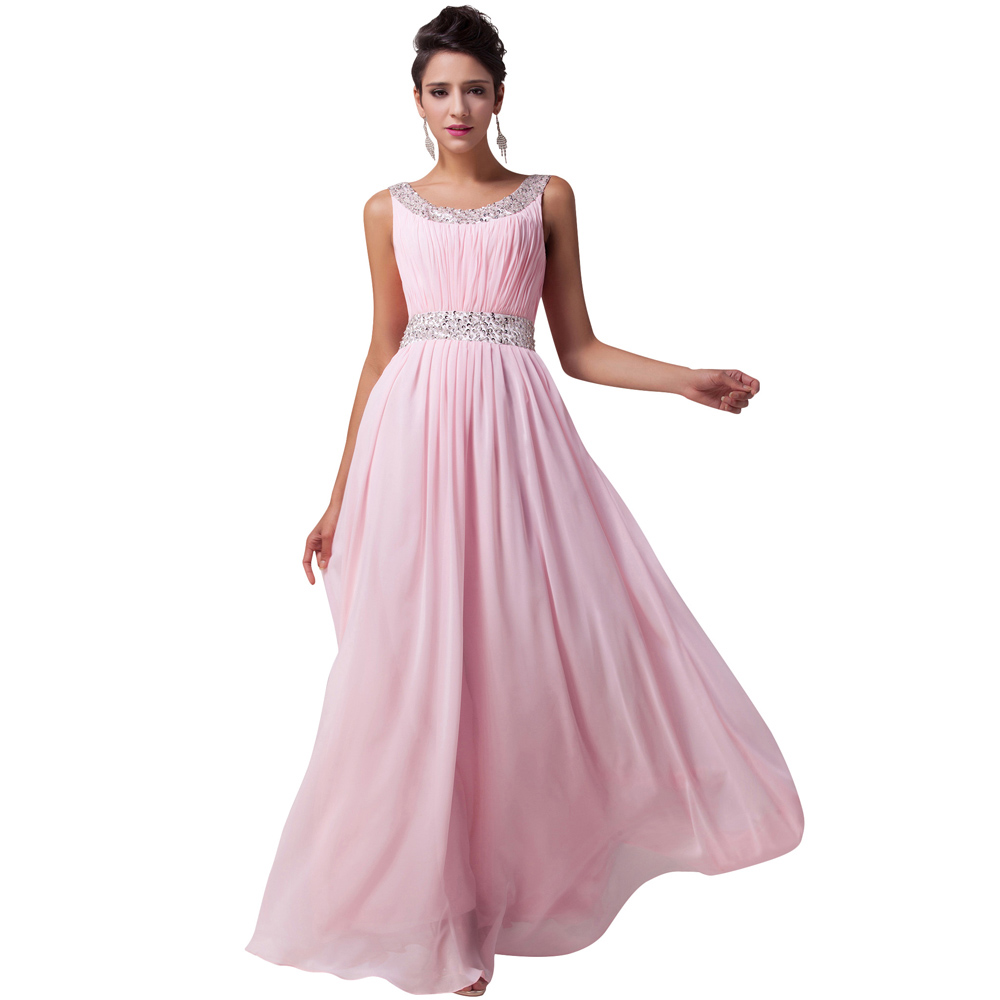 robe de soiree longue evening dresses pink long formal. Black Bedroom Furniture Sets. Home Design Ideas