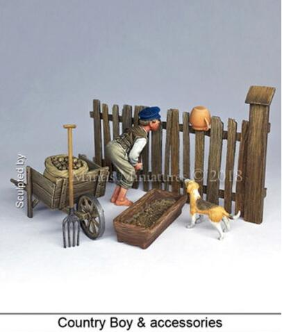 1/35 Country Boy With Accessories   Resin Model Miniature  Figure Unassembly Unpainted