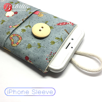 Cloth Handmade Mobile Phone Cover For iPhone7/8Plus Case Soft Cloth Pouch Bag for iPhone XR XS XS MAX Sleeve Bag Pouch Wallet