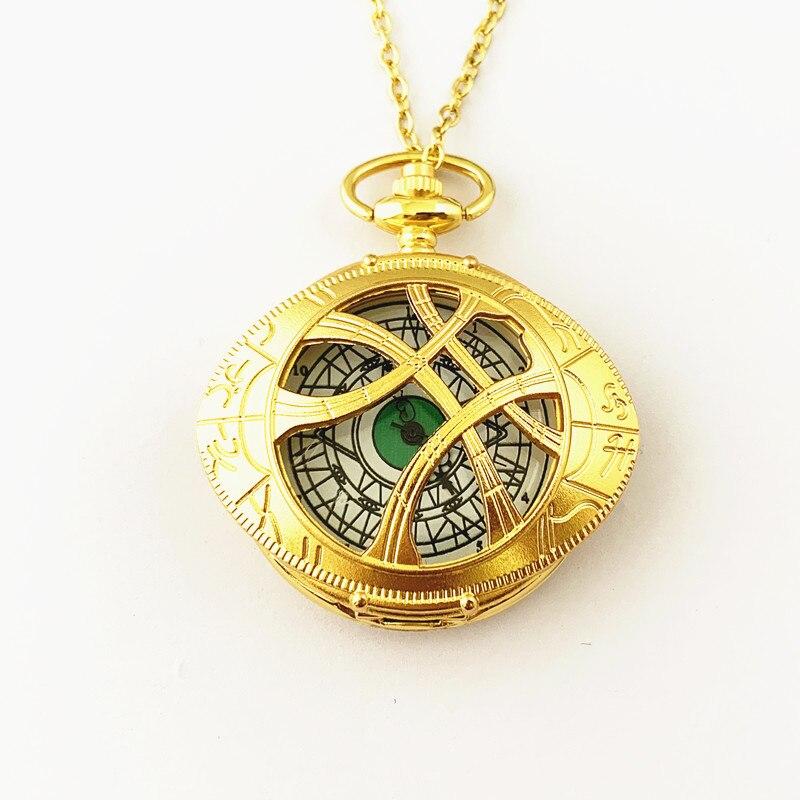 Fantasía universo envío gratis 20 piezas mucho Doctor extraño reloj de bolsillo collar HRDKFJFF088-in Collares colgantes from Joyería y accesorios    2