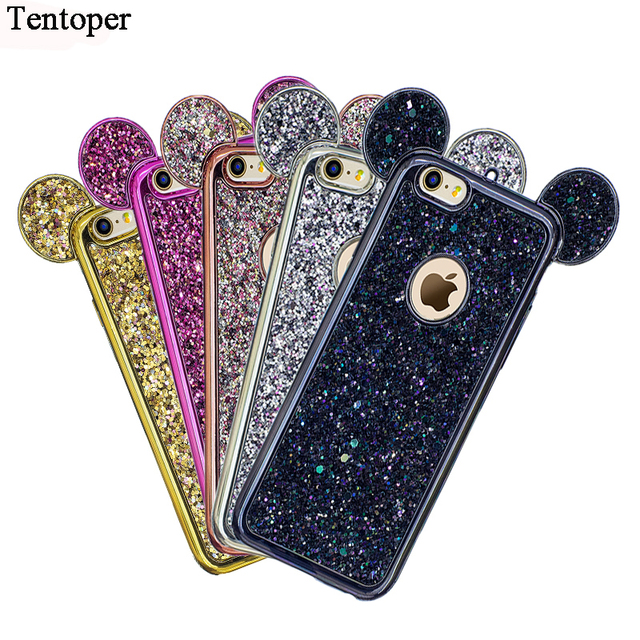 coque iphone 7 paillettes rose