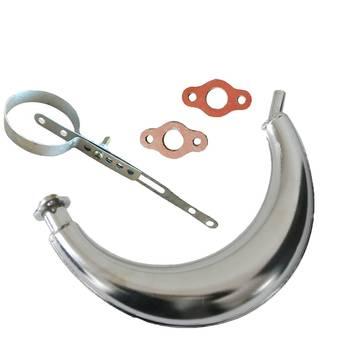Chrome Muffler Exhaust Piep&Exhaust Muffler Clamp For 49cc 80cc Motorized Bike muffler clamp exhaust muffler clampexhaust muffler -