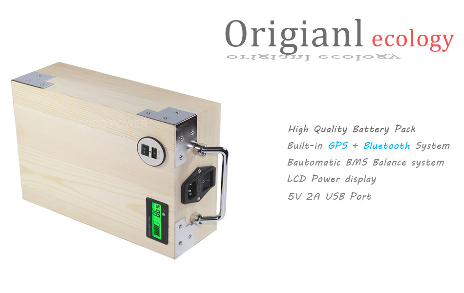 Sale APP 24V 40AH Electric bike LiFePO4 Battery Pack Phone control Electric bicycle Scooter ebike Power 1000W Wood 7